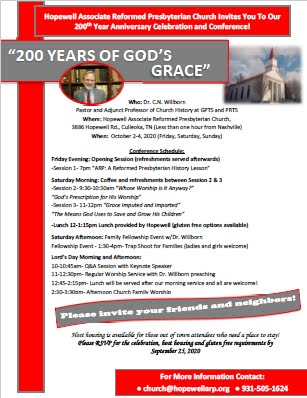 Join us, Oct 2–4, for Hopewell's 200th Anniversary Conference