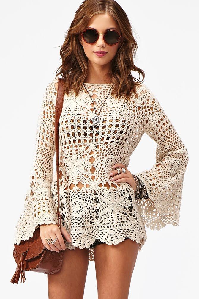 beautiful crochet fashion for beach