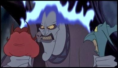 Hades con Pena y Pánico, Hércules