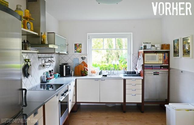 vorher - unsere alte IKEA talbo küche vor dem makeover   luzia pimpinella