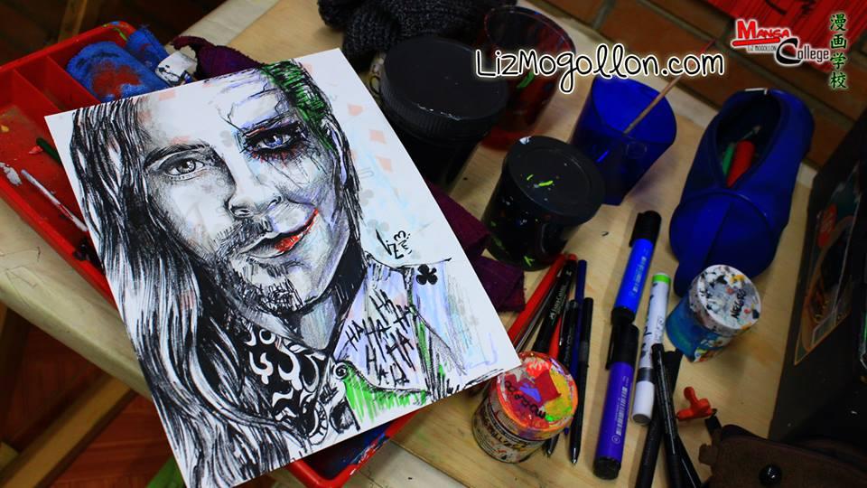 Dibujo Joker  Jared Leto  Curso De MangaComicCaricatura y