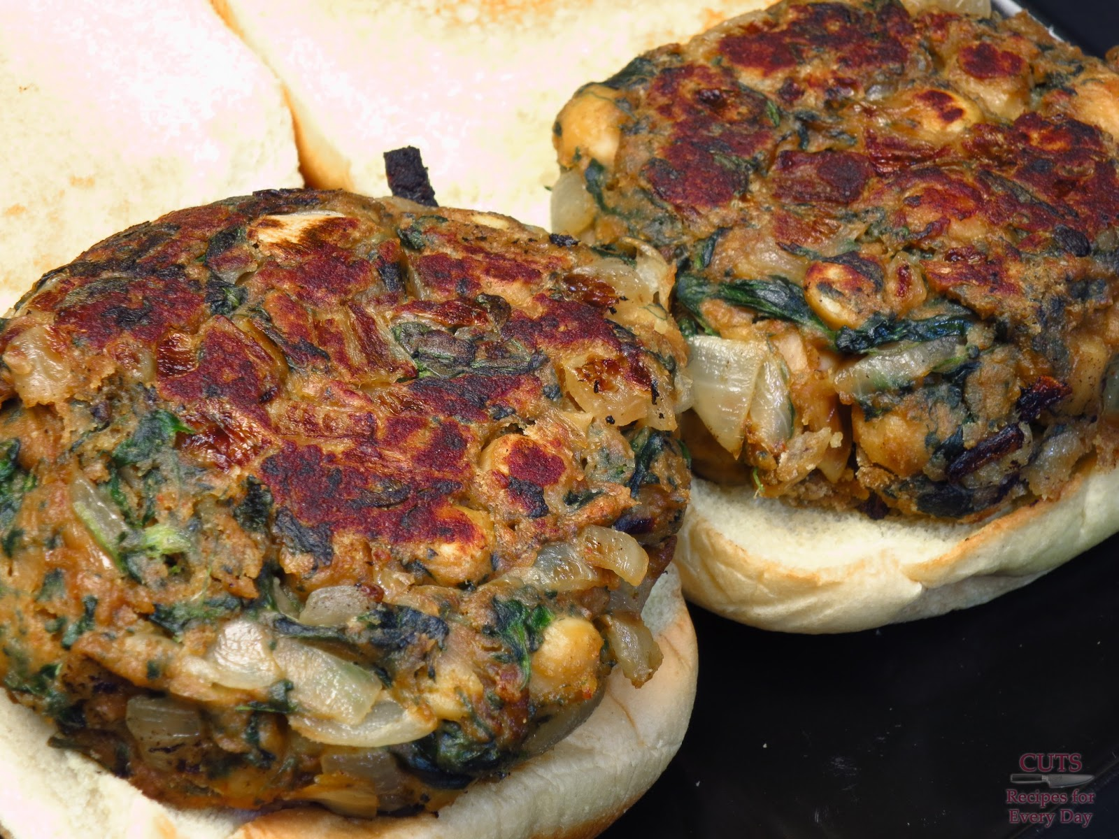 ... burgers makes 12 small or 6 large burgers chickpea and spinach burgers