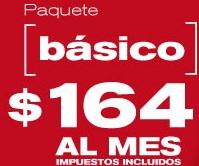 paquete dish basico por solo 164 pesos al mes