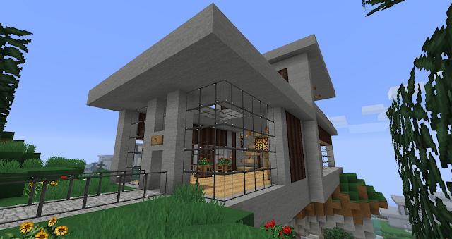 Ruked On Minecraft Modern House Schematics