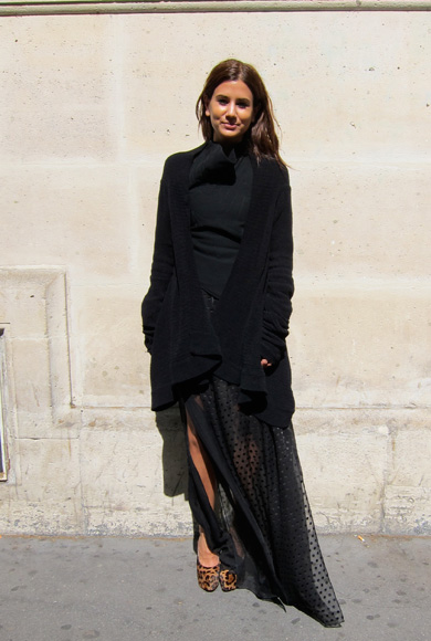 Christine Centerena At Paris Fashion Week