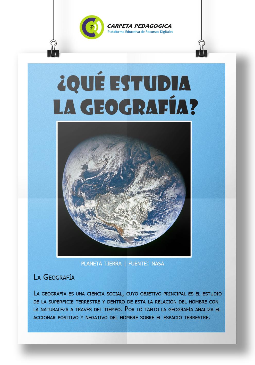 ¿Qué estudia la Geografía?
