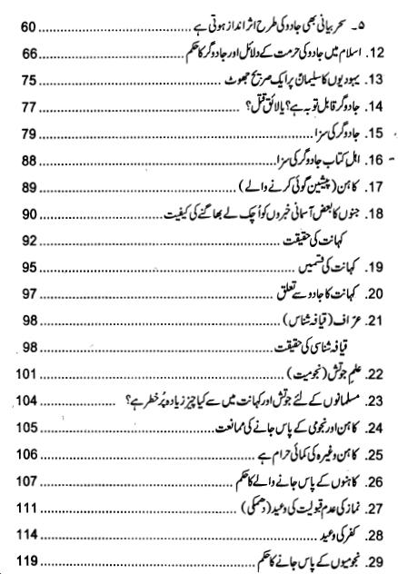 Index page 2 of Jadu ki Haqeeqat