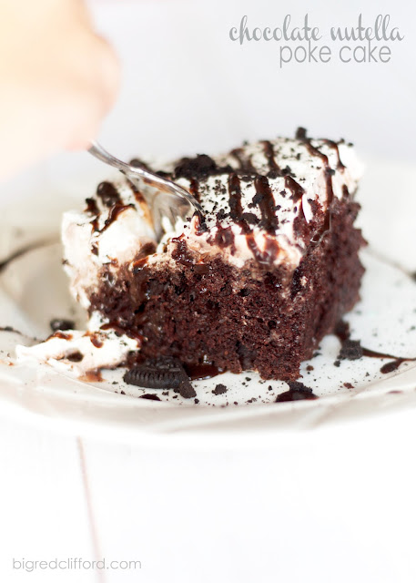nutella chocolate poke cake