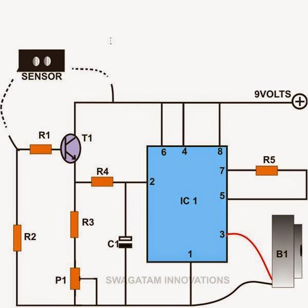 Rain Detector Circuit Diagram | Electronic Hobby Circuits April 2015