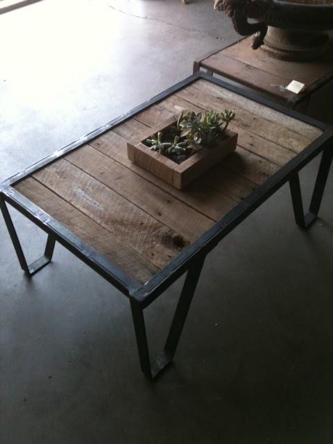 Silver fox architectural salvage l a industrial coffee table for Architectural salvage coffee table