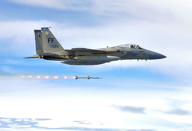 F-15 Eagle missile launch