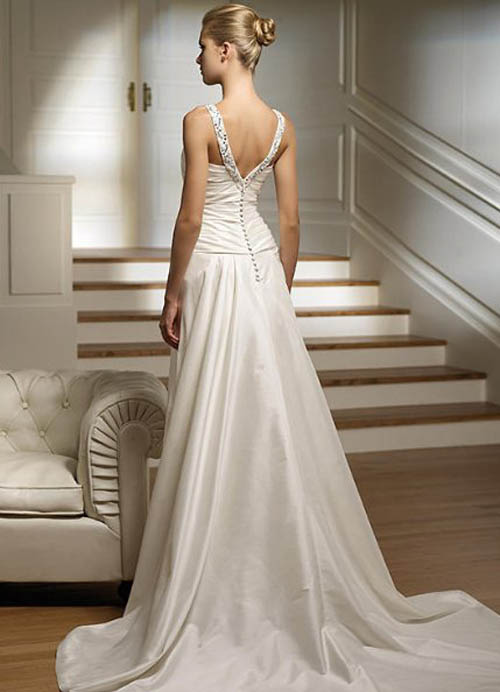 Wedding dresses simple elegant wedding dresses for Simple elegant short wedding dresses