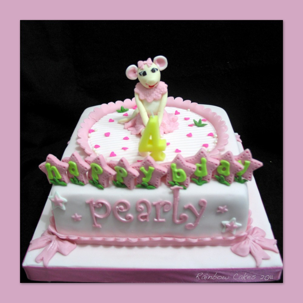 Icarly cake angelina cake ideas and designs for Angelina ballerina edible cake topper decoration sale