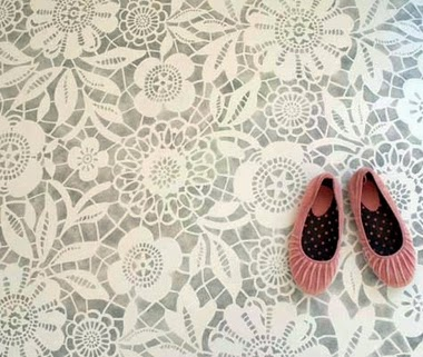 30 Awesome DIY Projects that You've Never Heard of - Floor Stencils