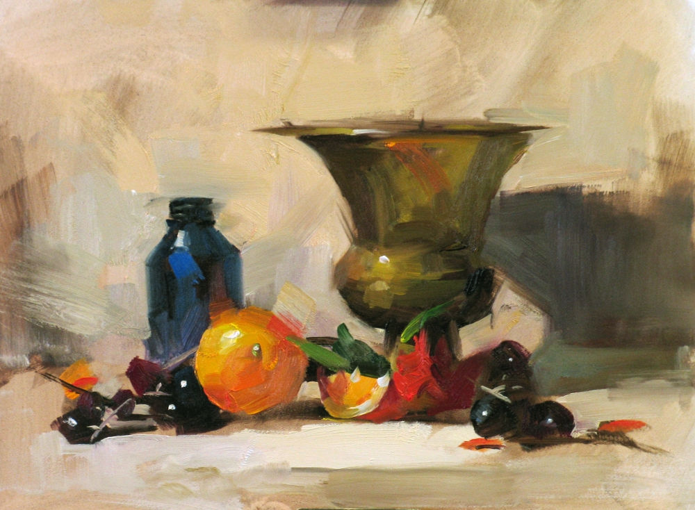 Nancy Standlee Fine Art: Qiang Huang Oil Painting Workshop, Day 1 ...