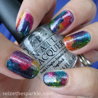 Rainbow Glitter Seriotype Nails