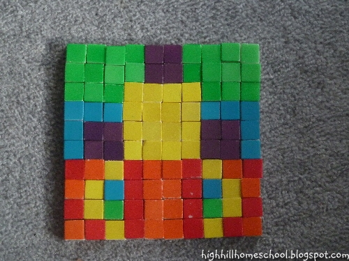Highhill homeschool roman mosaics for Roman mosaic templates for kids