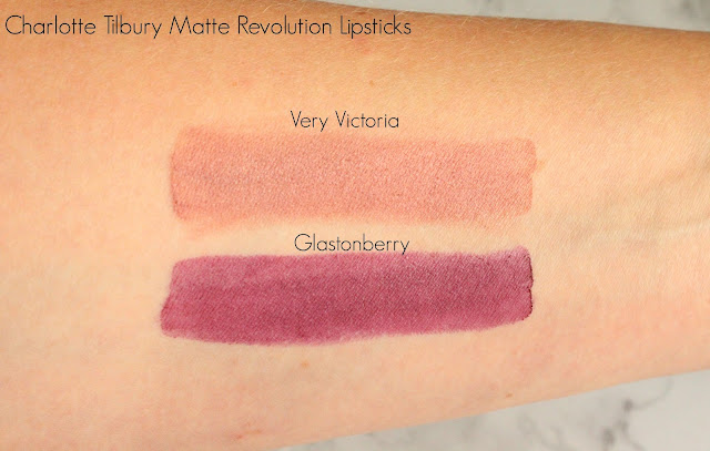 Charlotte Tilbury Matte Revolution Lipsticks in Very Victoria and Glastonberry
