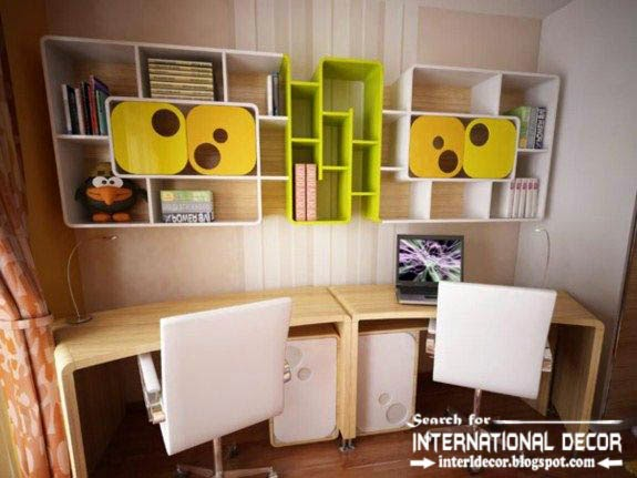 create creative study space for kids room, study space organizing ideas