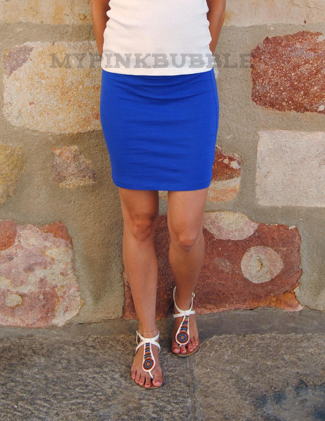 outfit azul klein
