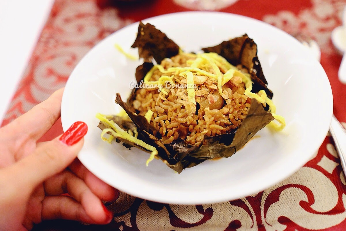Fried Rice with Assorted Dried Meat Wrapped in Lotus Leaf (www.culinarybonanza.com)