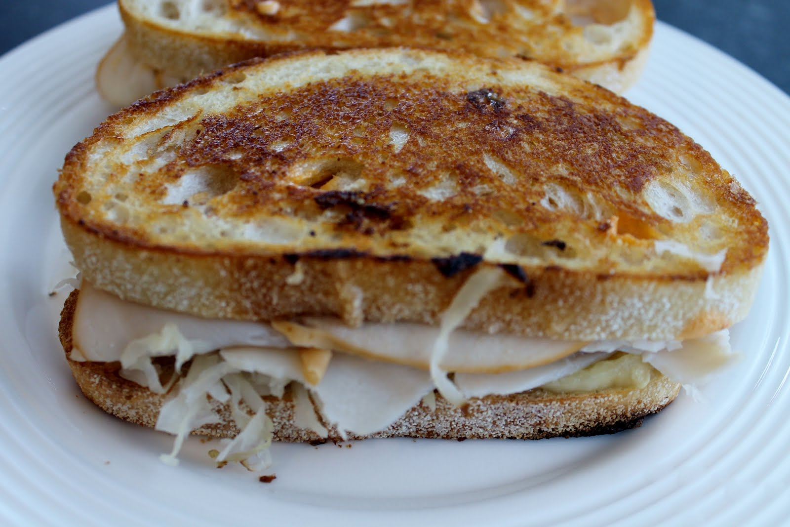 butter the outside using a griddle or skillet brown both sides of the ...