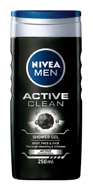 PR:Nivea Men Body Deodoriser & Active Clean Shower Gel with Active Charcoal