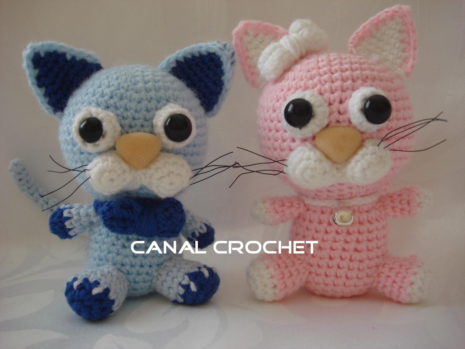 CANAL CROCHET: Gatos amigurumi patron libre