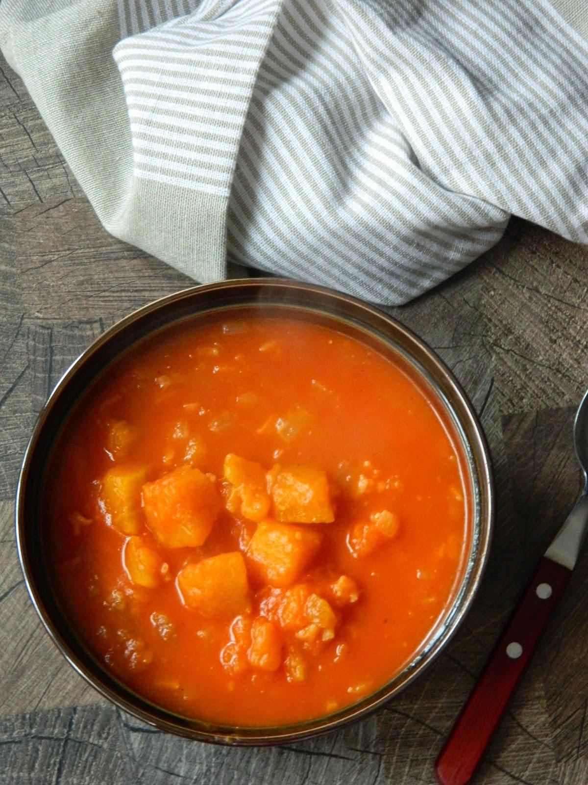 Supa de rosii cu dovleac