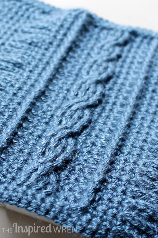 Crochet Cable Stitch Afghan Patterns : The Inspired Wren: Square 9! Crochet Along Afghan Sampler ...