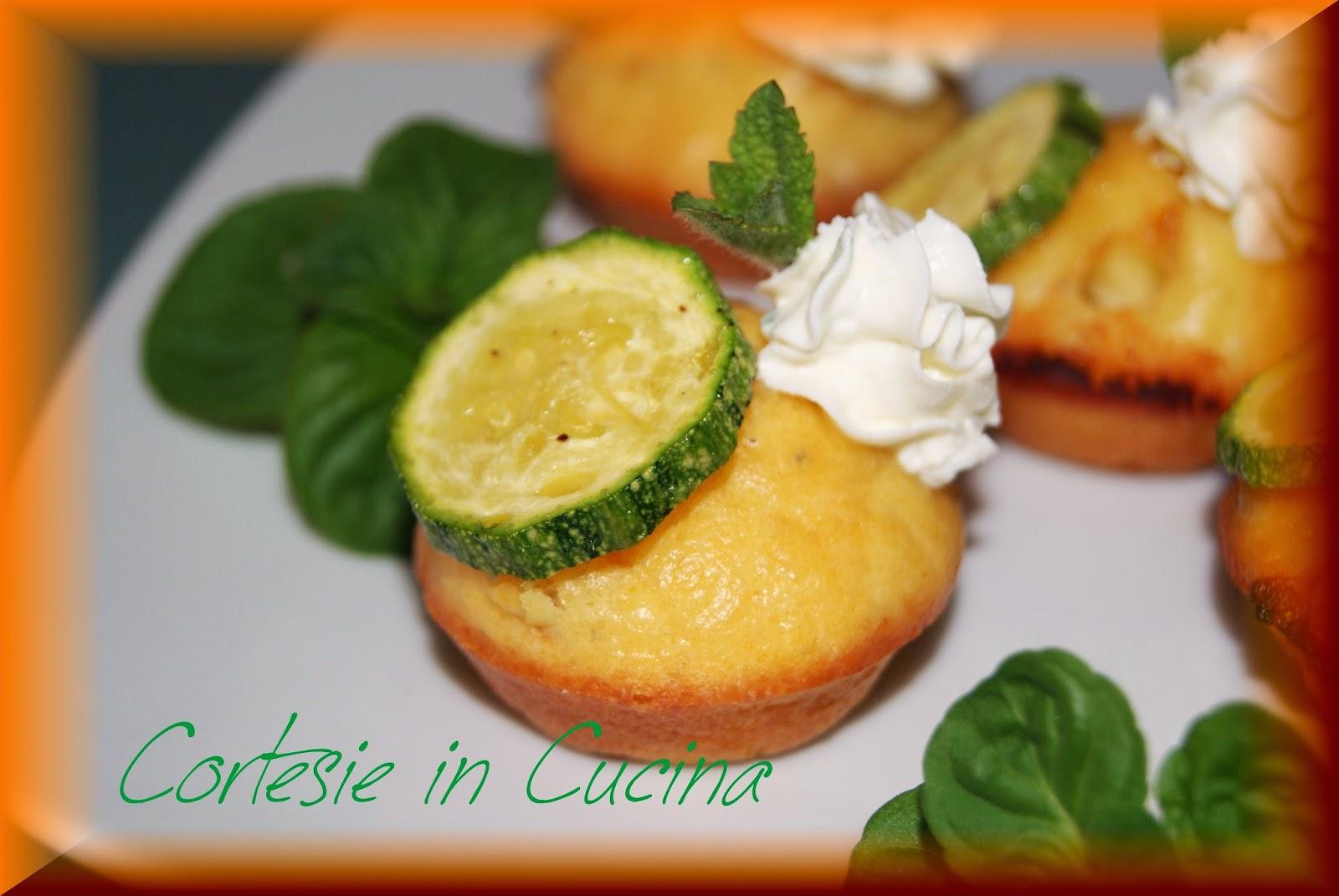 mini cupcakes zucchine e menta