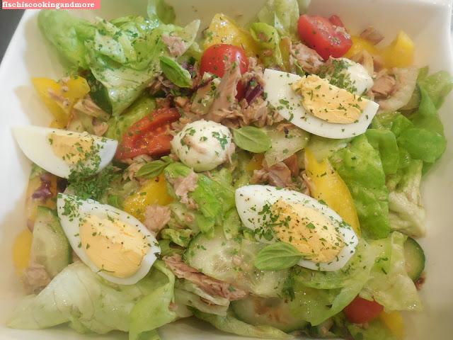 fischiscooking, salatschüssel, thunfisch