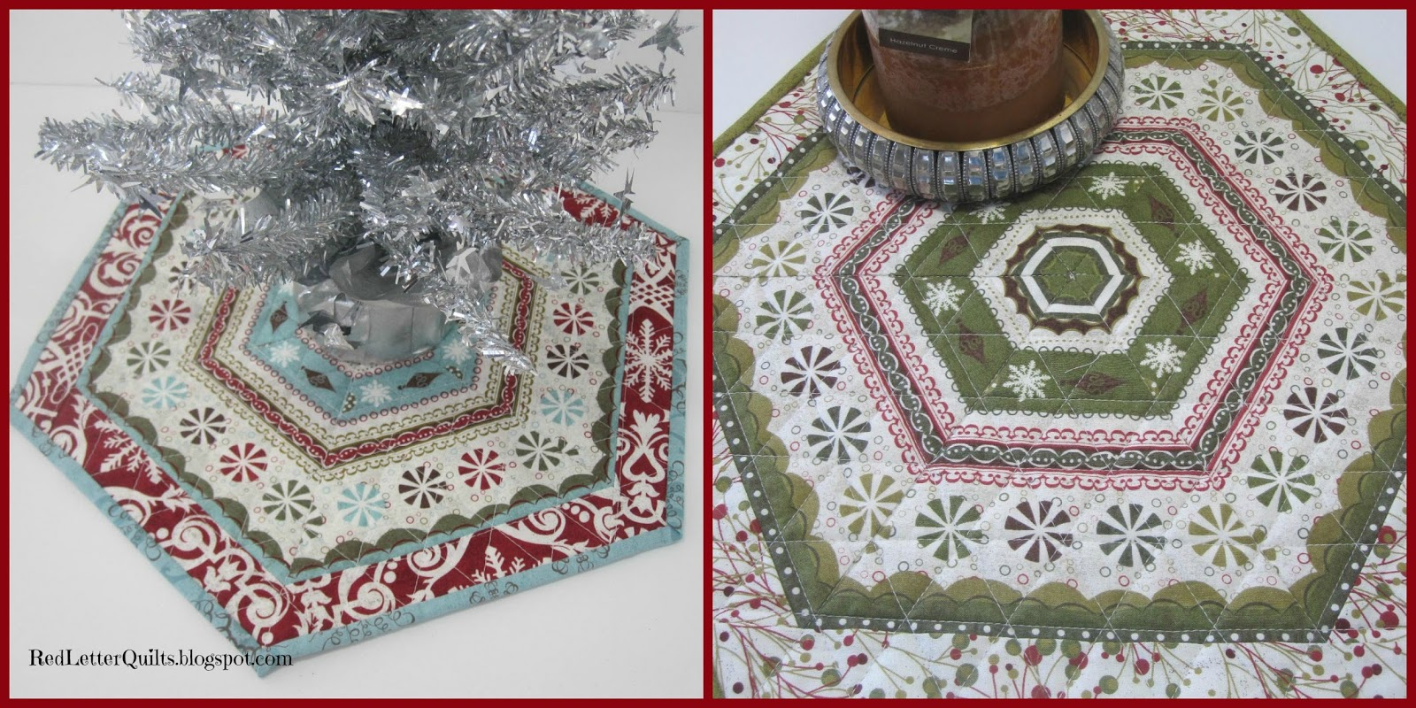 I Made Another Mini Christmas Tree Skirt This Time Taking Pictures Along The Way A Fun Use For Border Fabrics Or Striped