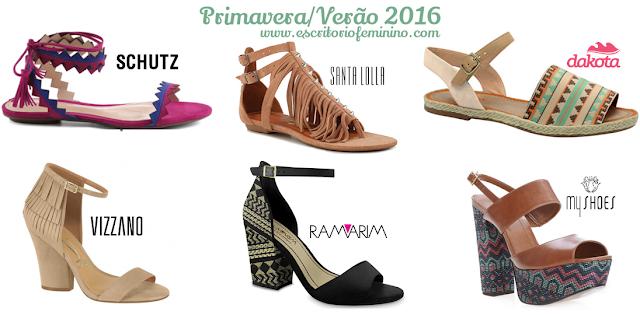 moda calçados 2016 tendências primavera verão