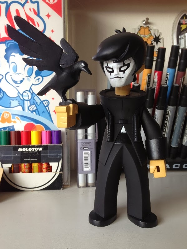 "Brandon Lee ""The Crow"" Custom Dragon King Vinyl Figure by kaNO"