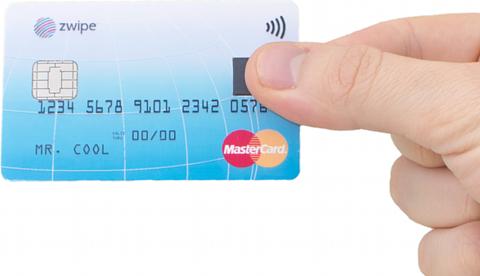 Carte MasterCard avec technologie Zwipe