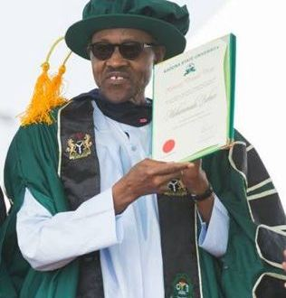 BUHARI NOW HAS A CERTIFICATE !!!