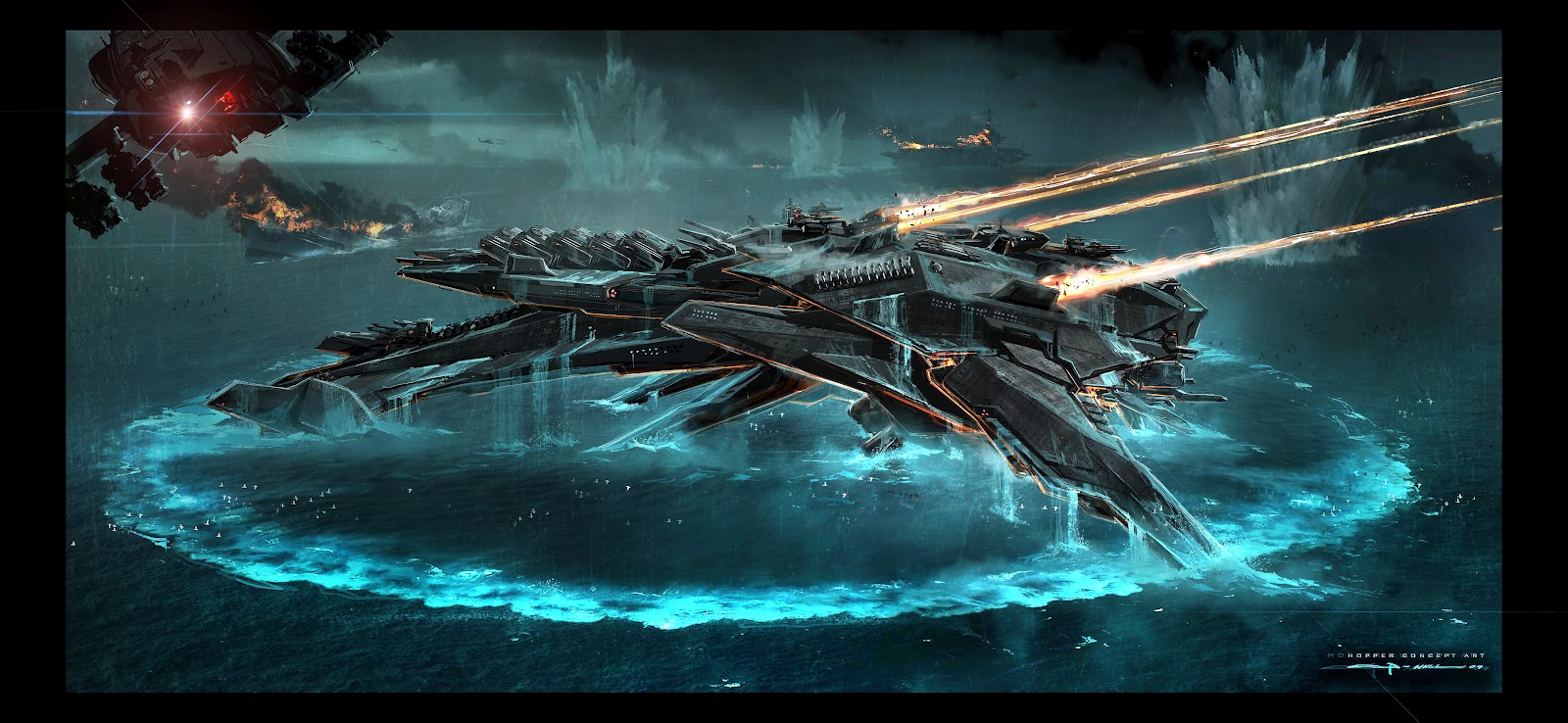 The gallery for --> Battleship Movie Alien Ship Design