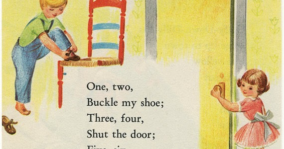 One two buckle my shoe kids rhyme song lyrics and video for 1 2 buckle my shoe 3 4 shut the door