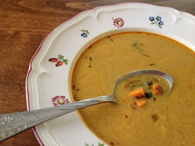 Sweet Potato Poblano Soup recipe from Dr Weil
