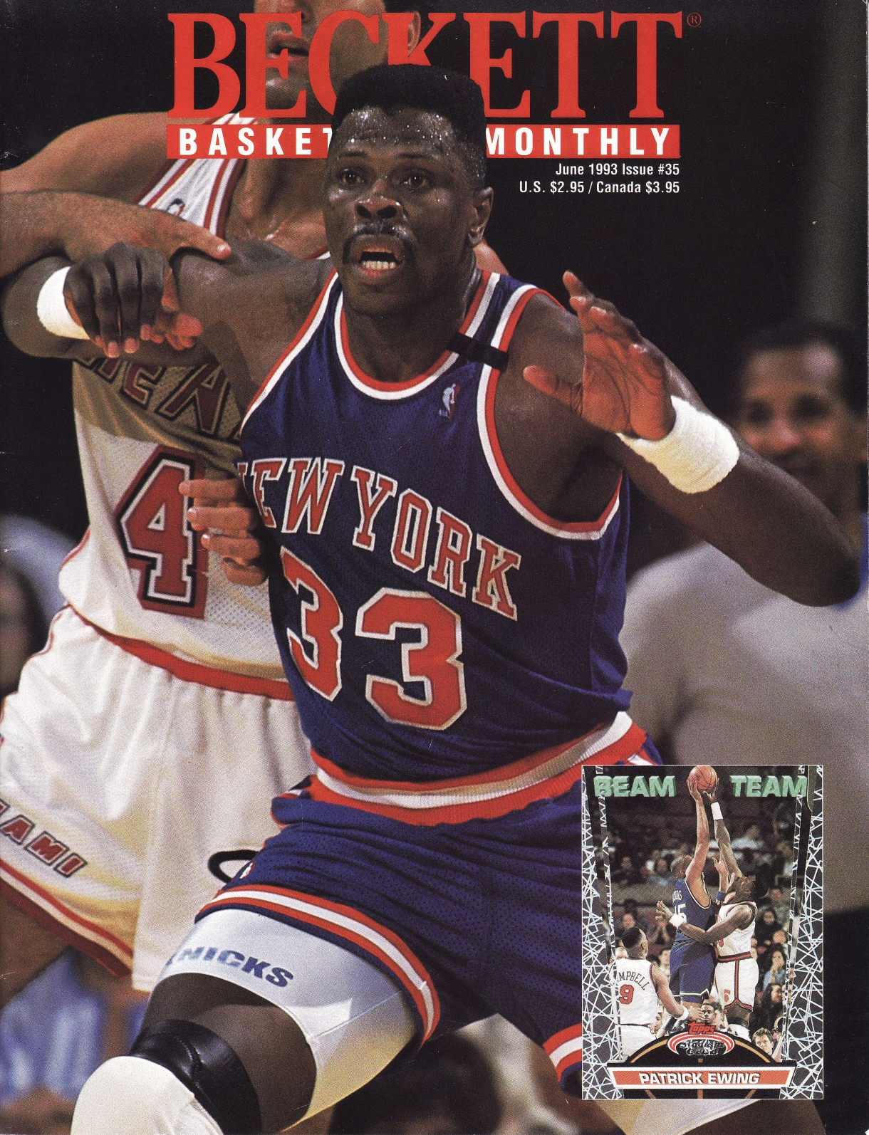 Patrick Ewing on the cover of Beckett Basketball