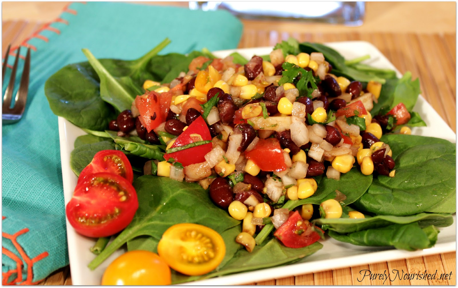 Purely Nourished: Quick Black Bean Salad