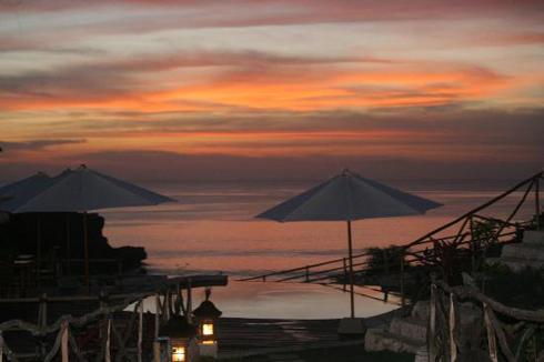 Sunset at Milo's Home Jimbaran Bali