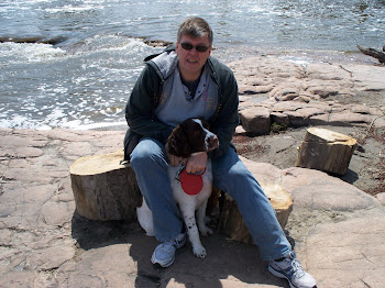 Sierra and me -- at Falls Park, Sioux Falls, SD