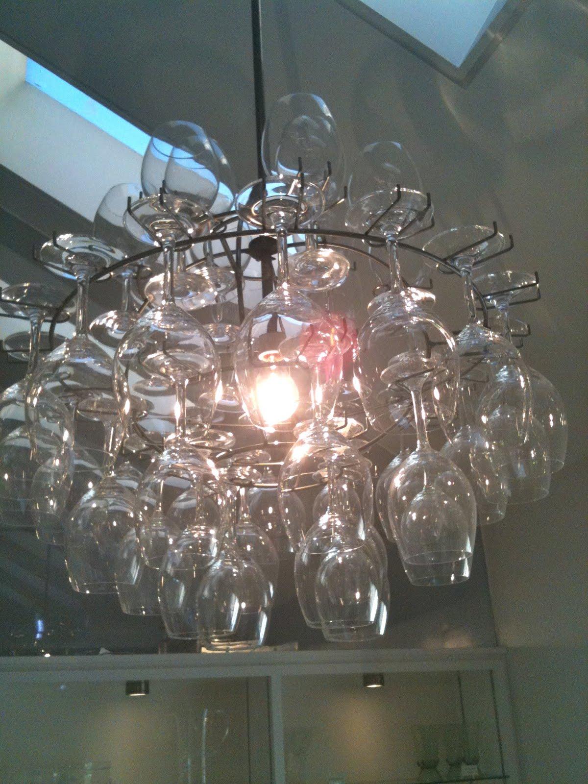 Sheer Serendipity Wine glass chandelier