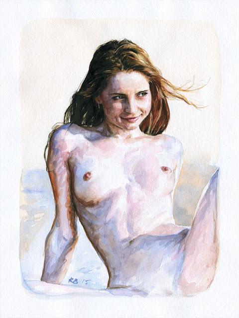 René Bui - Etude de nu à l'aquarelle 150139 - 2015