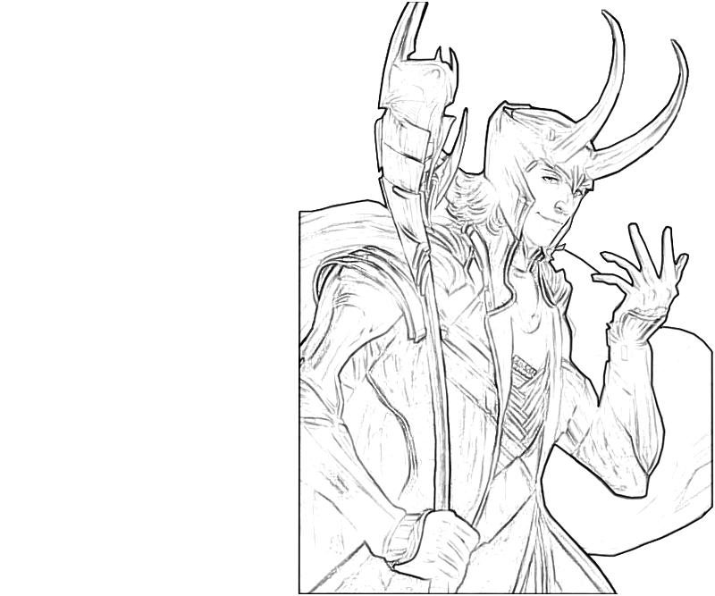 avengers coloring pages loki - photo#12