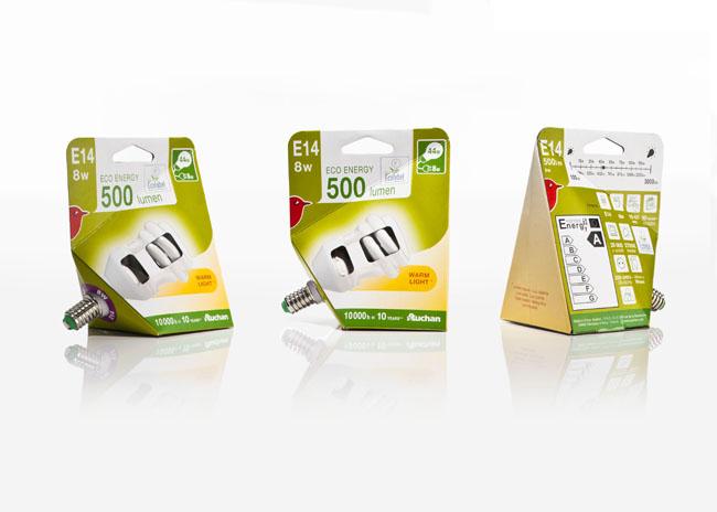 Auchan Light Bulbs On Packaging Of The World Creative