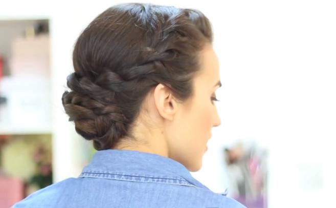 Peinado con trenzas para pelo corto YouTube - Recogidos Con Trenzas Pelo Corto