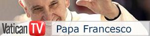 La wb-TV che segue il Papa in diretta